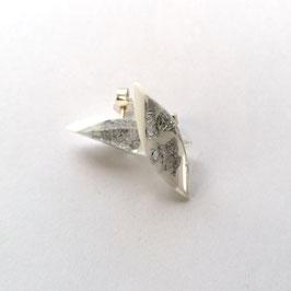 Ohrstecker Silbermetalleinschluss weiß