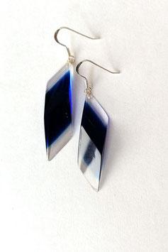 Ohrhänger in Vieleckform royalblau