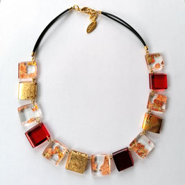 Halskette kupfer rot gold