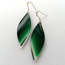 Ohrhänger dunkelgrün transparent, lang