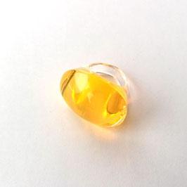 Ovaler Ring zitronengelb transparent