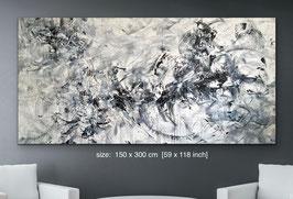"""""""Che mistero è la vita"""" (150x300cm) /  WHAT A MYSTERY LIFE IS"""