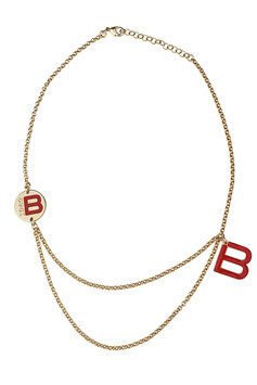 DOUBLE B RED LOGO NECKLACE