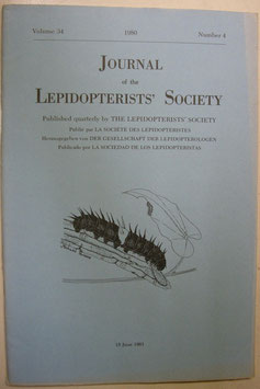 Journal of the Lepidopterist's  Society Vol.34 No.4