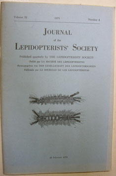 Journal of the Lepidopterist's  Society Vol.32 No.4
