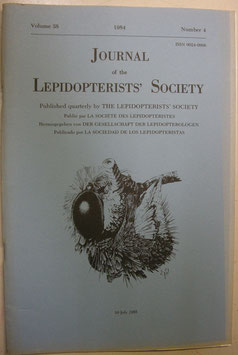 Journal of the Lepidopterist's  Society Vol.38 No.4