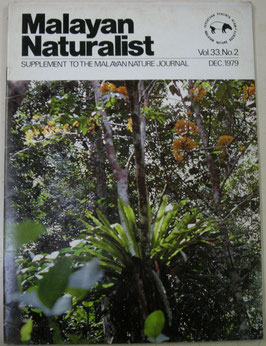 Malayan Naturalist Supplement to the Malayan Nature Journal Vol.33 No.2(1979年12月)