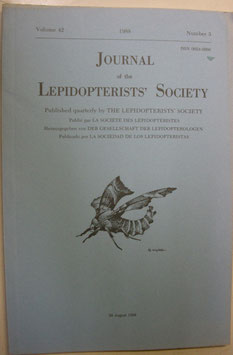 Journal of the Lepidopterist's  Society Vol.42 No.3