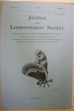Journal of the Lepidopterist's  Society Vol.43 No.4
