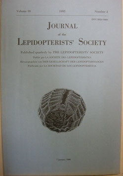 Journal of the Lepidopterist's  Society Vol.39 No.2