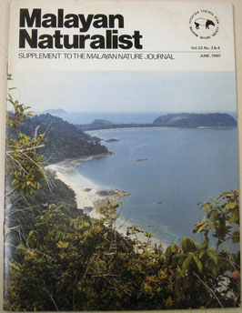 Malayan Naturalist Supplement to the Malayan Nature Journal Vol.33 No3&4(1980年6月)