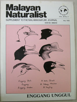 Malayan Naturalist Supplement to the Malayan Nature Journal Vol.36 No.4(1983年5月)