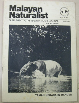 Malayan Naturalist Supplement to the Malayan Nature Journal Vol.35 No.4(1982年6月)
