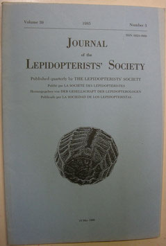 Journal of the Lepidopterist's  Society Vol.39 No.3