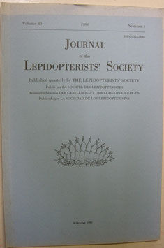 Journal of the Lepidopterist's  Society Vol.40 No.1