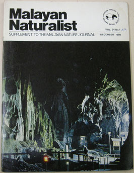 Malayan Naturalist Supplement to the Malayan Nature Journal Vol.34 No.1&2(1980年12月)