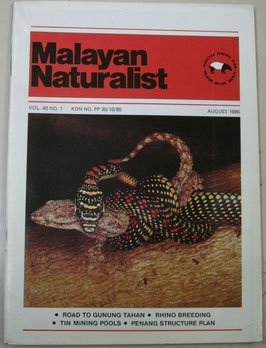 Malayan Naturalist Vol.40 No.1(1986年8月)