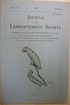 Journal of the Lepidopterist's  Society Vol.43 No.2