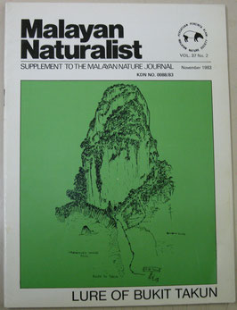 Malayan Naturalist Supplement to the Malayan Nature Journal Vol.37 No.2(1983年11月)
