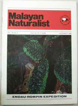 Malayan Naturalist Vol.40 No.2(1986年11月)