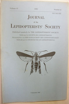 Journal of the Lepidopterist's  Society Vol.37 No.2