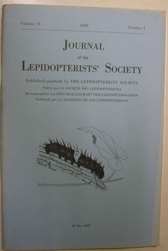 Journal of the Lepidopterist's  Society Vol.34 No.1