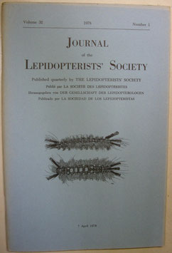Journal of the Lepidopterist's  Society Vol.32 No.1
