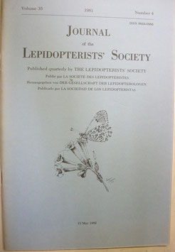 Journal of the Lepidopterist's  Society Vol.35 No.4