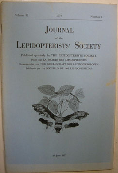 Journal of the Lepidopterist's  Society Vol.31 No.2