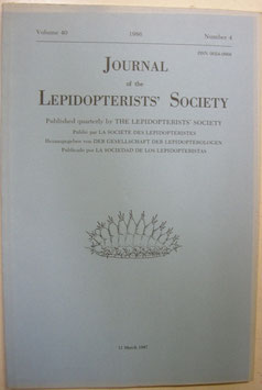 Journal of the Lepidopterist's  Society Vol.40 No.4
