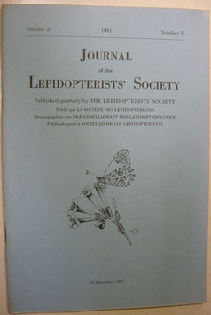 Journal of the Lepidopterist's  Society Vol.35 No.2