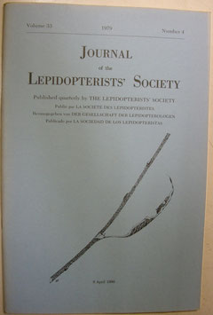 Journal of the Lepidopterist's  Society Vol.33 No.4