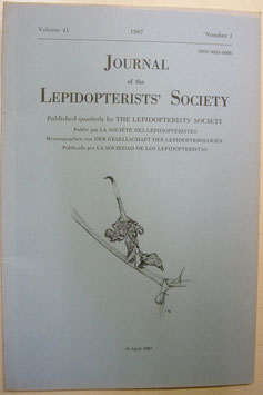Journal of the Lepidopterist's  Society Vol.41 No.1