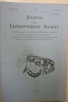 Journal of the Lepidopterist's  Society Vol.43 No.1