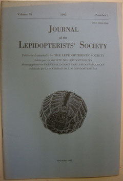 Journal of the Lepidopterist's  Society Vol.39 No.1