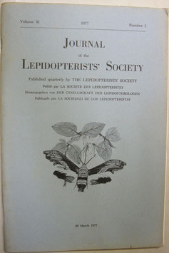 Journal of the Lepidopterist's  Society Vol.31 No.1