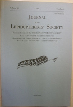 Journal of the Lepidopterist's  Society Vol.42 No.2