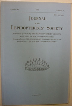 Journal of the Lepidopterist's  Society Vol.40 No.3