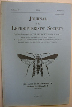 Journal of the Lepidopterist's  Society Vol.37 No.1