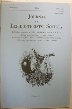 Journal of the Lepidopterist's  Society Vol.38 No.2