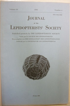 Journal of the Lepidopterist's  Society Vol.39 No.4