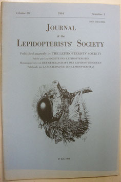 Journal of the Lepidopterist's  Society Vol.38 No.1