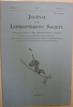 Journal of the Lepidopterist's  Society Vol.41 No.2