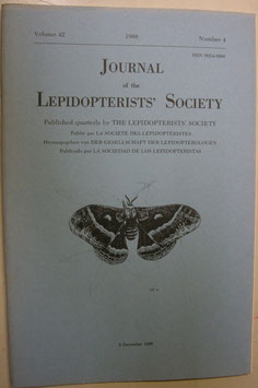Journal of the Lepidopterist's  Society Vol.42 No.4