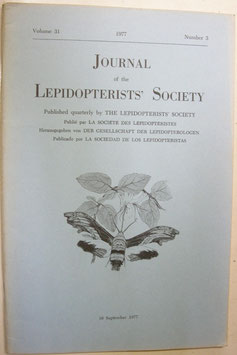 Journal of the Lepidopterist's  Society Vol.31 No.3
