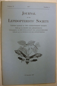 Journal of the Lepidopterist's  Society Vol.31 No.4