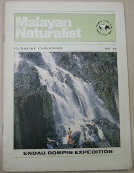 Malayan Naturalist Vol.39 No.3&4(1986年5月)