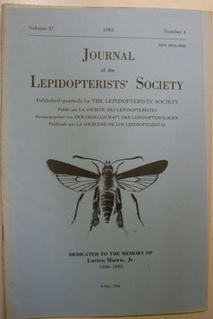 Journal of the Lepidopterist's  Society Vol.37 No.4