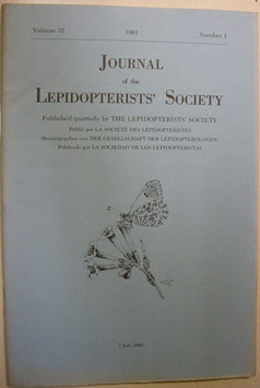 Journal of the Lepidopterist's  Society Vol.35 No.1
