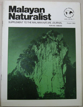 Malayan Naturalist Supplement to the Malayan Nature Journal Vol.37 No.1(1983年8月)